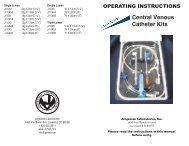 Central Venous Catheter Kits - Jorgensen Laboratories