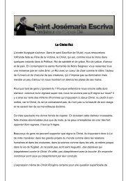 Le Christ Roi (pdf) - Saint Josemaria Escriva