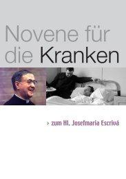 Novene für die Kranken - Saint Josemaria Escriva