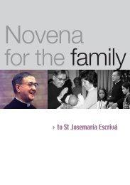Novena for Families - Saint Josemaria Escriva