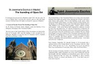 Download the tour with map (pdf format) - Saint Josemaria Escriva