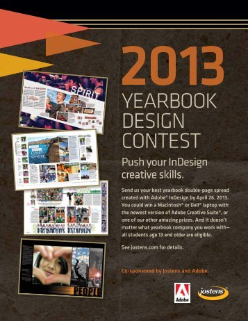 2013 InDesign Design Contest - Jostens
