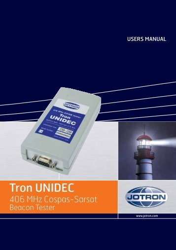 Users Manual Tron UNIDEC.pdf - Jotron