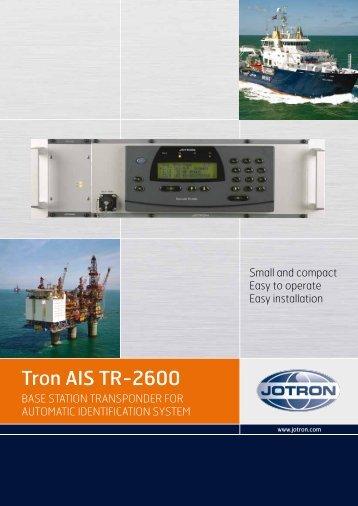 Brochure Tron AIS TR 2600 Base Station.pdf - Jotron