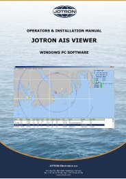 Operators and Installation Manual AIS Viewer.pdf - Jotron