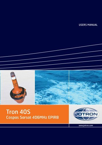Users Manual Tron 40S.pdf - Jotron