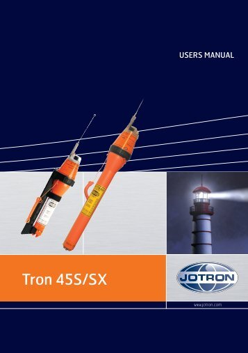 Users Manual Tron 45S_SX.pdf - Jotron