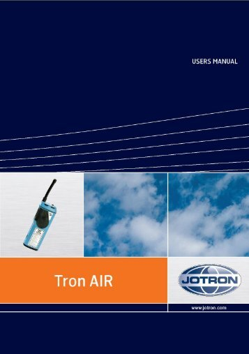 Users Manual Tron AIR.pdf - Jotron
