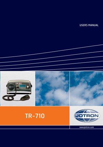 Users Manual TR-710.pdf - Jotron