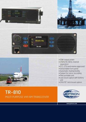 Brochure TR-810.pdf - Jotron