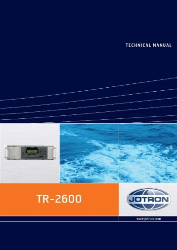 Technical Manual Tron AIS TR-2600.pdf - Jotron