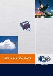 SINGLE & DUAL ISOLATORS - Jotron