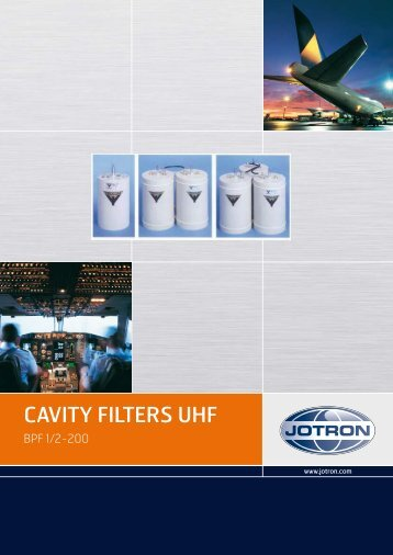 Brochure Cavity Filters UHF.pdf - Jotron