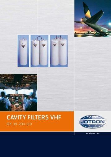 Brochure Cavity Filters VHF.pdf - Jotron