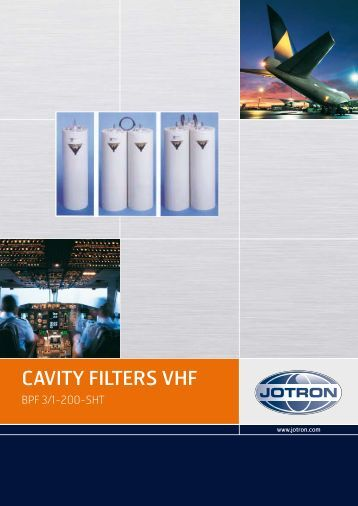 Brochure Cavity Filters VHF.pdf - Jotron