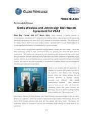 Press release Globe Wireless.pdf - Jotron