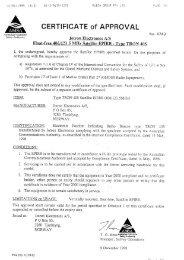Certificate of Approval Australia Tron 40S.pdf - Jotron
