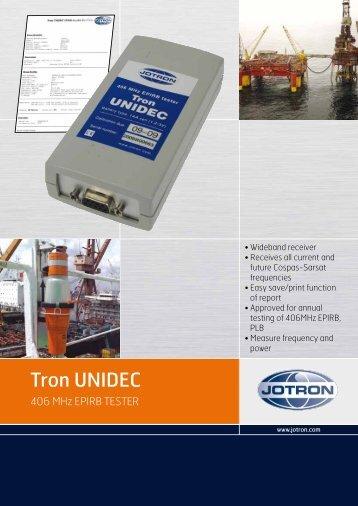 Brochure Tron UNIDEC.pdf - Jotron