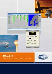 RACS III - Remote Access and Control System - Jotron
