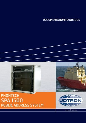 Users Manual SPA 1500.pdf - Jotron