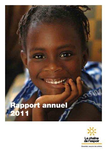 Rapport annuel 2011 - La Chaîne de l'Espoir