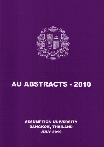 AU Abstracts 2010 - AU Journal