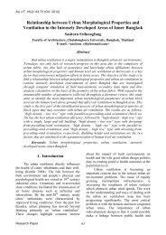 Relationship between Urban Morphological Properties ... - AU Journal