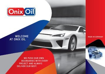 WELCOME AT ONIX OIL