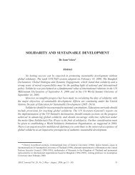 Solidarity and Sustainable Development - AU Journal - Assumption ...