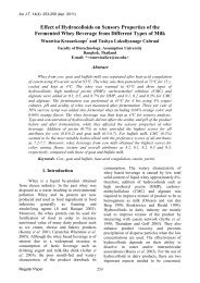 Effect of Hydrocolloids on Sensory Properties of the ... - AU Journal