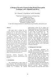 A Design of Security Protocol using Hybrid Encryption ... - AU Journal