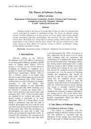 The Theory of Software Testing - AU Journal