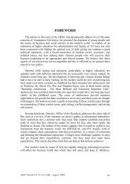 Foreword - AU Journal - Assumption University of Thailand