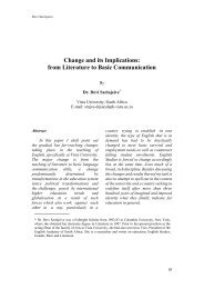 Change and its Implications : from Literature to basic ... - AU Journal