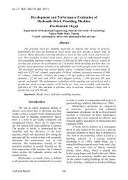 Development and Performance Evaluation of Hydraulic ... - AU Journal