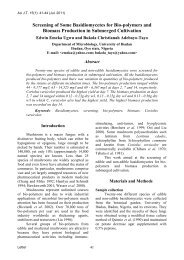 Screening of Some Basidiomycetes for Bio-polymers ... - AU Journal
