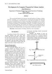 Development of a Computer Program for Column ... - AU Journal