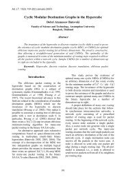 Cyclic Modular Destination Graphs in the Hypercube - AU Journal