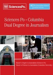 Sciences Po Brochure - Columbia University Graduate School of ...