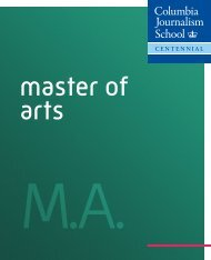 M.A. Brochure - Columbia University Graduate School of Journalism