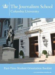 Part-Time Student Orientation Booklet - Columbia University ...