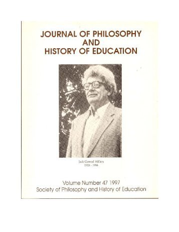 JOPHE Volume 47 from SOPHE 1996 - Journal of Philosophy and ...