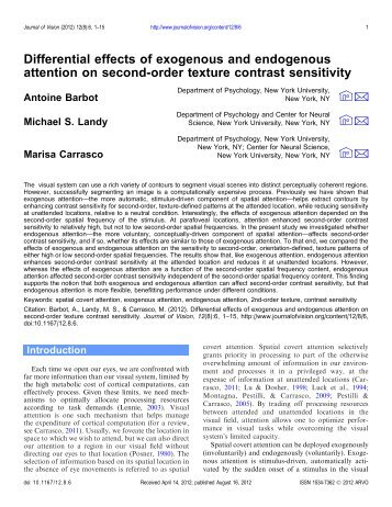 Differential effects of exogenous and endogenous attention on ...