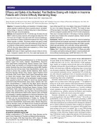 Efficacy and Safety of As-Needed, Post Bedtime Dosing with ... - Sleep