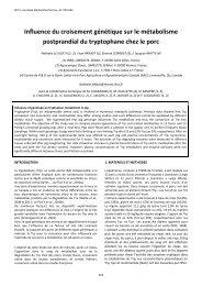 Influence du croisement génétique sur le métabolisme postprandial ...