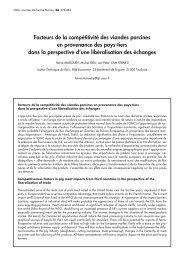 Facteurs de la compétitivité des viandes porcines en provenance ...