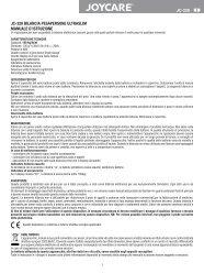 jc-320 bilancia pesapersone ultraslim manuale d'istruzione - Joycare