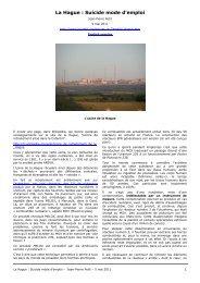 La Hague : Suicide mode d'emploi - Petit, Jean-Pierre