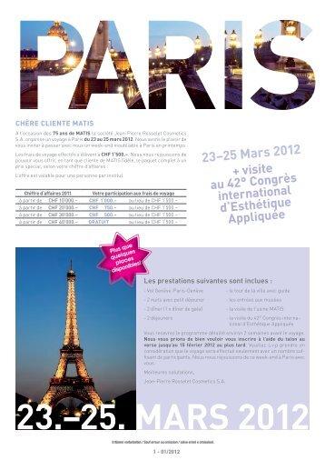 23.–25. MArS 2012 - Jean-Pierre Rosselet Cosmetics AG