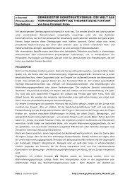 Hans Christoph Micko Gemäßigter Konstruktivismus - e-Journal ...